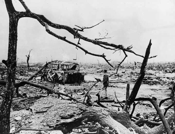 The Aftermath Of Atom Bomb Dropped On Hiroshima Japan By Americans At End World War II Getty