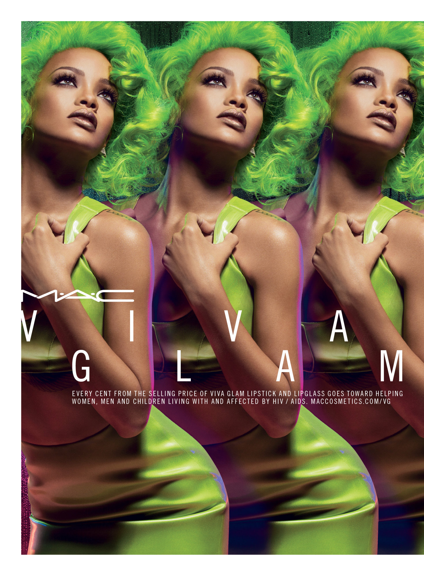 Mac Cosmetic Lipstick Fresh Brew 100 Authentic: Rihanna Goes Green: Singer Launches MAC Viva Glam Lipstick
