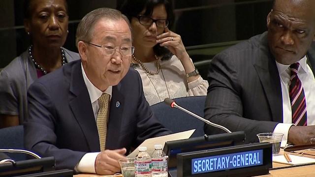 UN's Ban Makes Emotional Plea on Middle-East Crisis