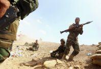 "Kurdish \""peshmerga\"" troops take part in an intensive security deployment against Islamic State militants"