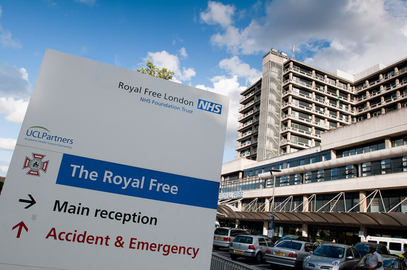 London's Royal Free Hospital