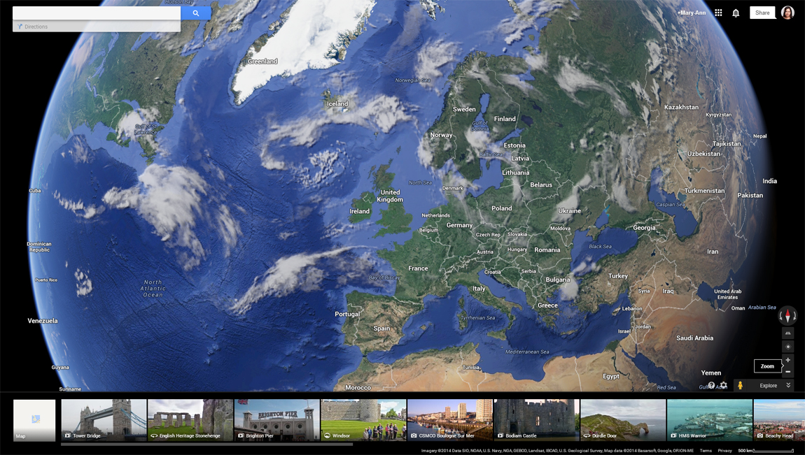 How to access Mars and the Moon on Google Earth step 2