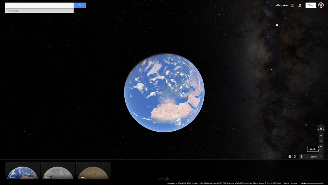 How to access Mars and the Moon on Google Earth step 3