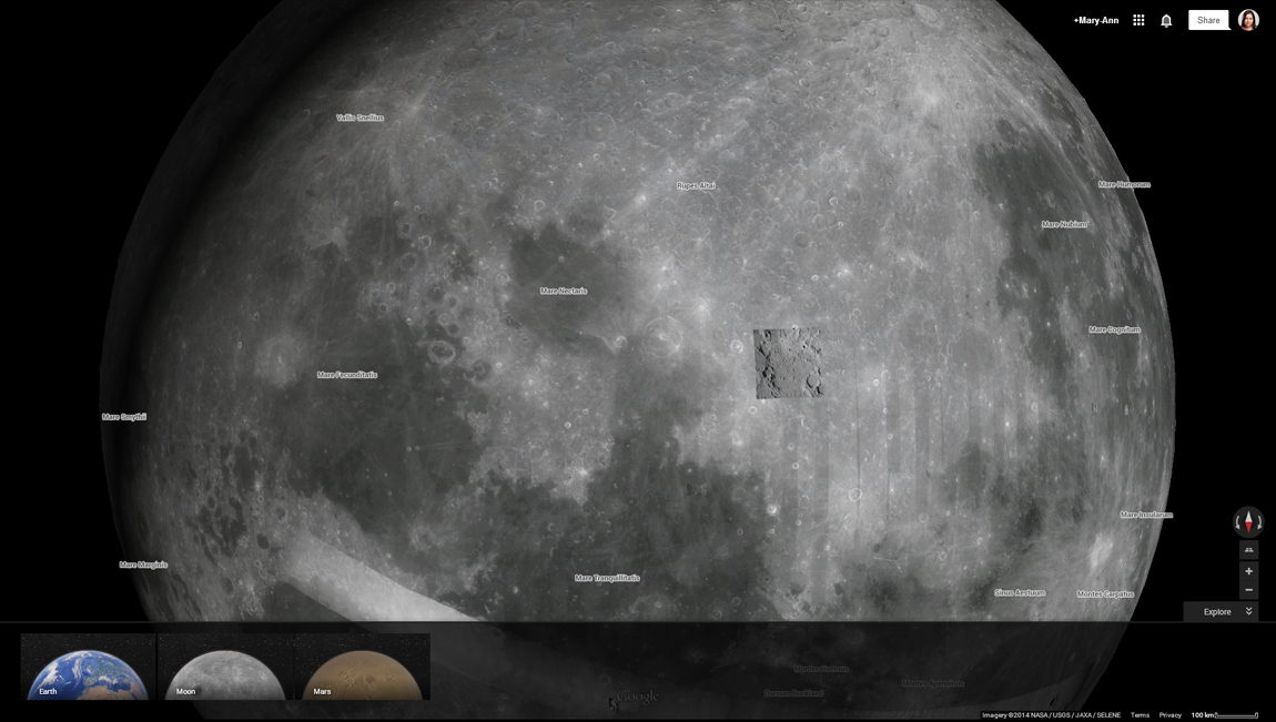You can tilt and reverse the planetary view and zoom in to look at features on the planets