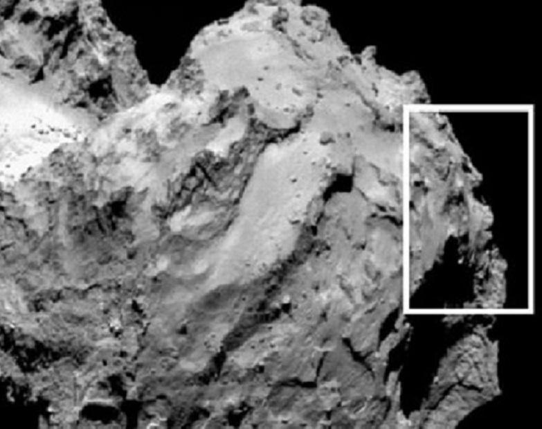 Rosetta comet face
