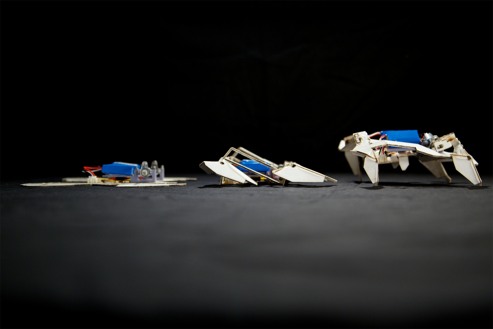 Origami robots designed by MIT and Harvard are able to fold up by themselves and crawl away