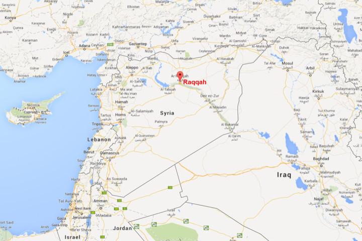 Syria Raqqah map