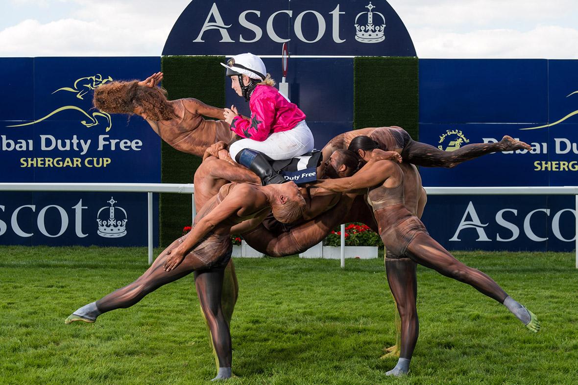 acrobats horse