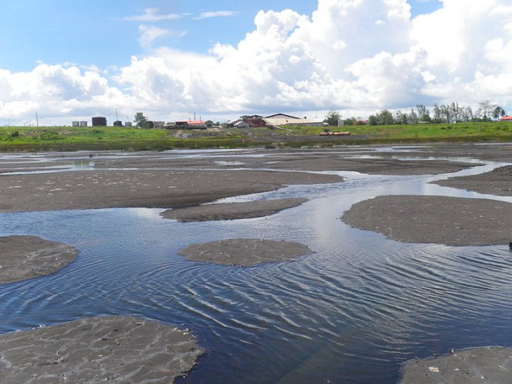 Pitch Lake in Trinidad - scientists have discovered microbes living in water droplets within the oil deposits