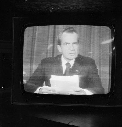 Watergate Nixon Resigns on TV