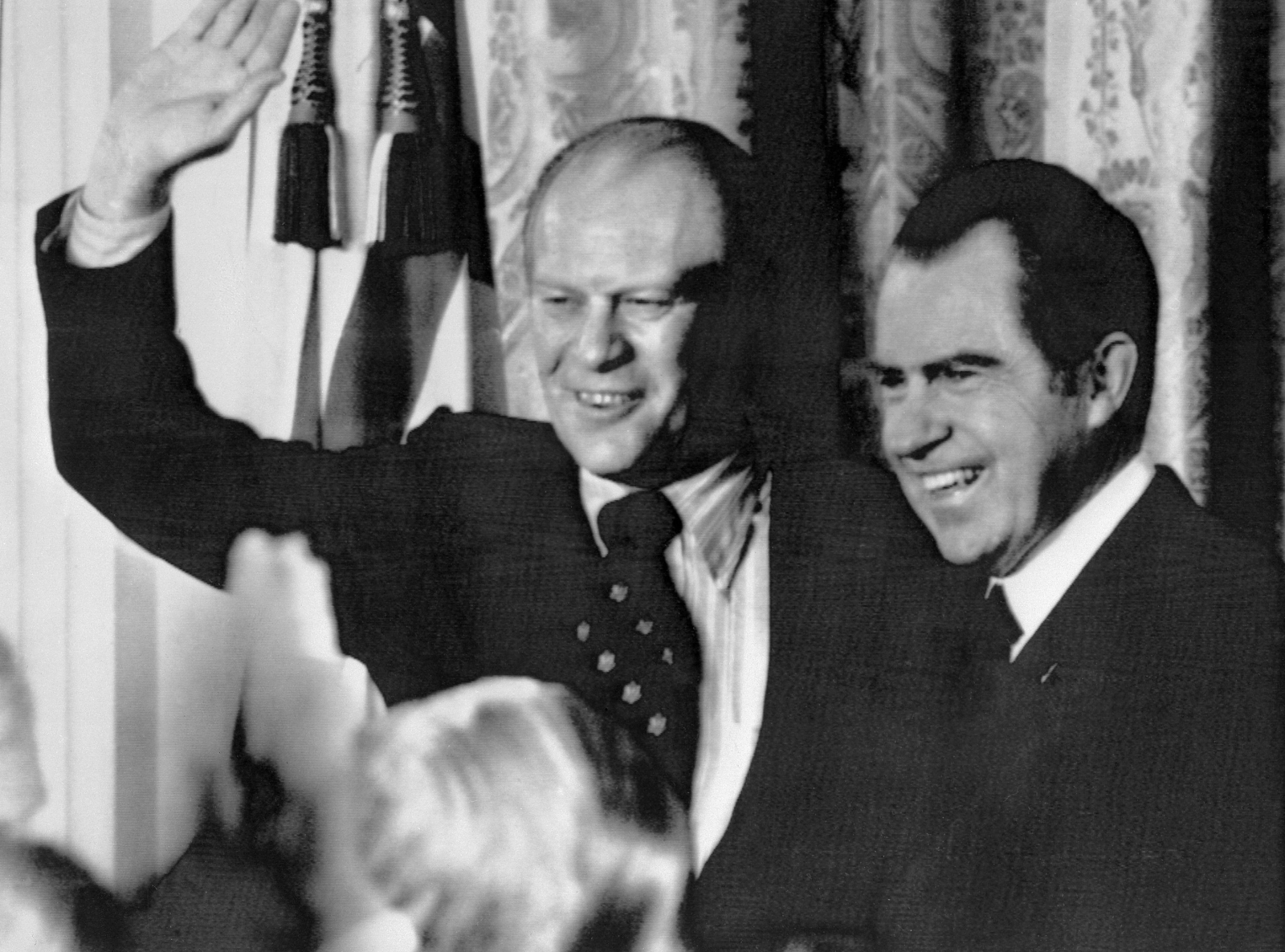 President Richard Nixon and Vice-president Gerald Ford