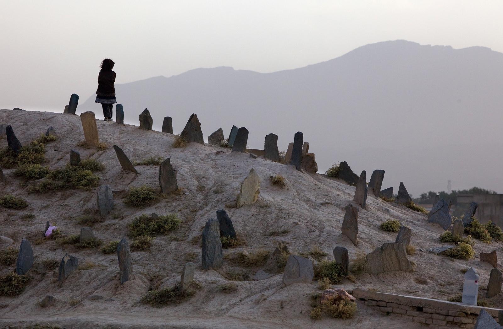 Child in a graveyard in rural pakistan (Getty Paula Bronstein)