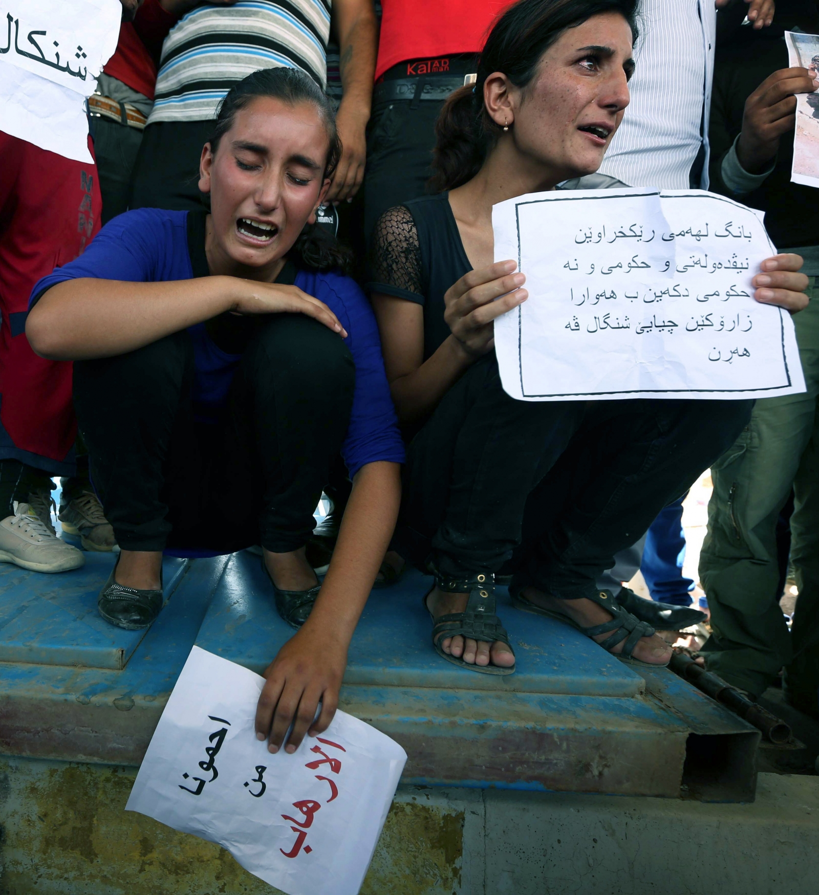 Members of the minority Yazidi religion were threatened after Islamic State (or Isis) threatened to slaughter them unless they convert to Islam.