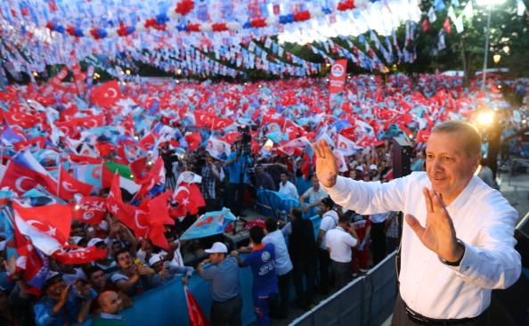 Turkish PM and Presidential Candidate Erdogan
