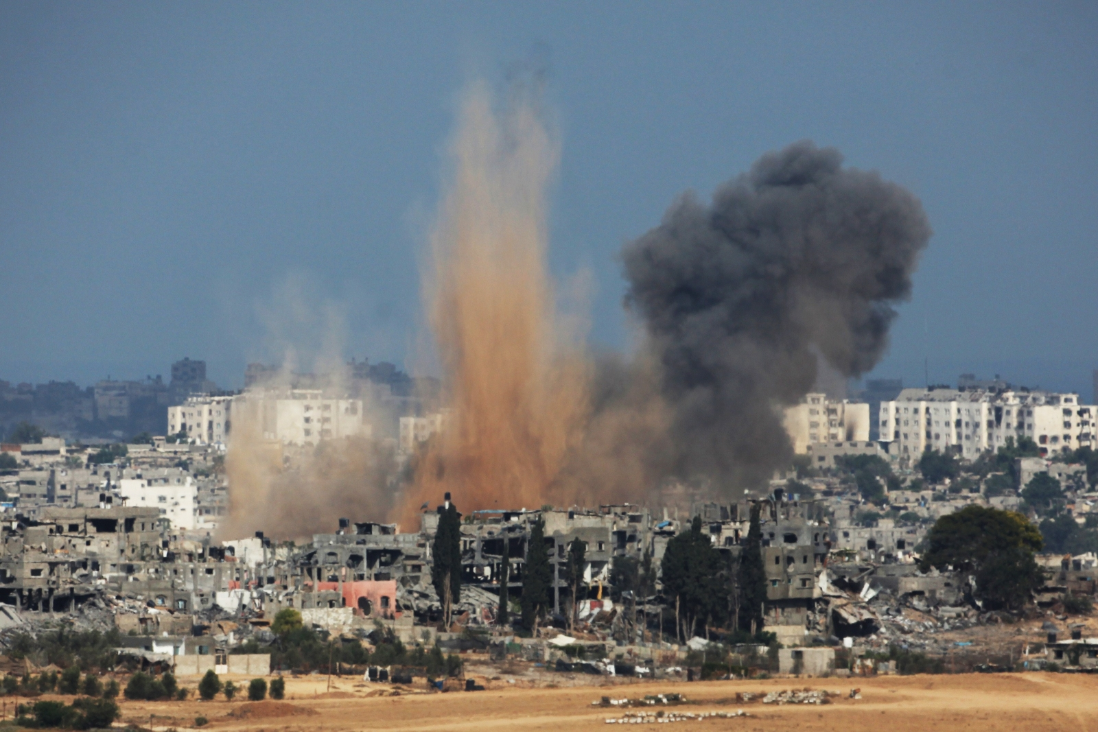 Israel launches airstrikes on Gaza today (David Buimovitch AFP/Getty)
