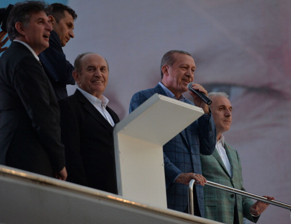 Turkish Presidential election winner Erdogan speaks in Istanbul