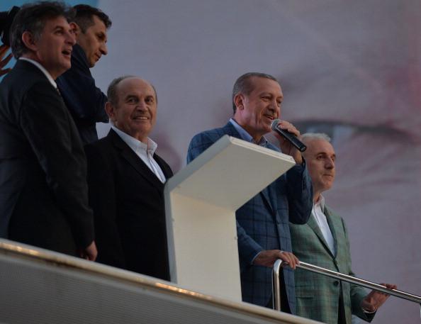 Turkish Presidential election winner Erdogan speaks in Istanbul