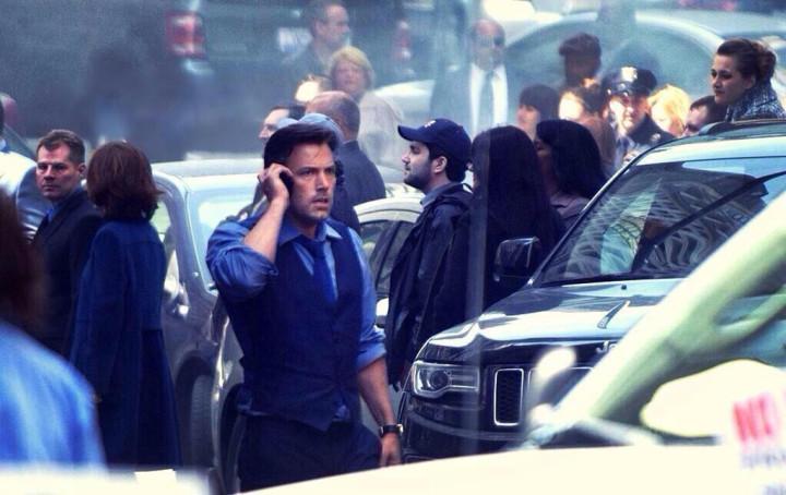 Ben Affleck on-set as Bruce Wayne