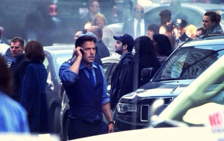 Ben Affleck on-set as Bruce Wayne