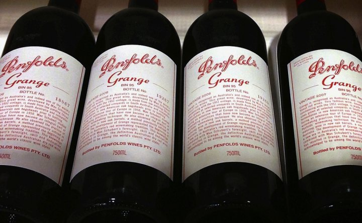 Penfolds Grange Wine Bottles
