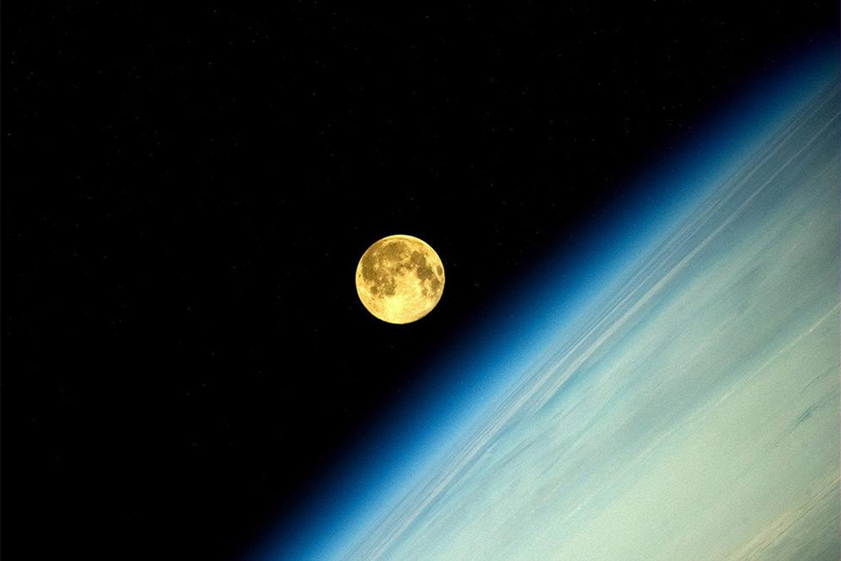 supermoon from space