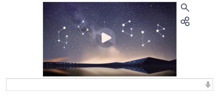 Perseids Google Doodle