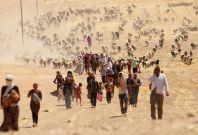 yazidi refugees flee Iraq