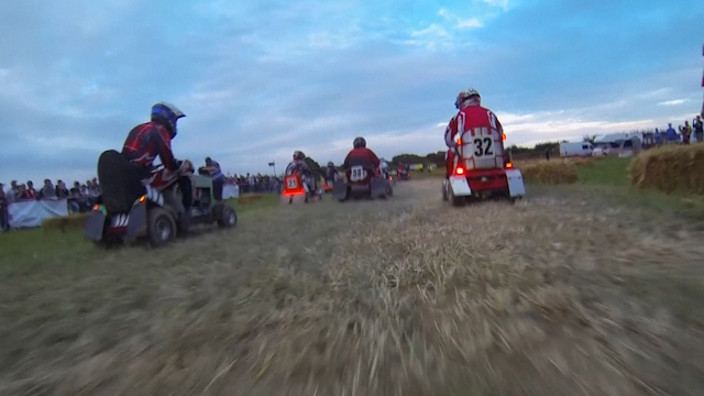 12 Hour Lawn Mower Race draws a Hollywood Star
