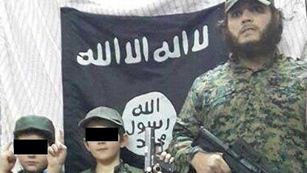 Khaled Sharrouf and boys believed to be his sons