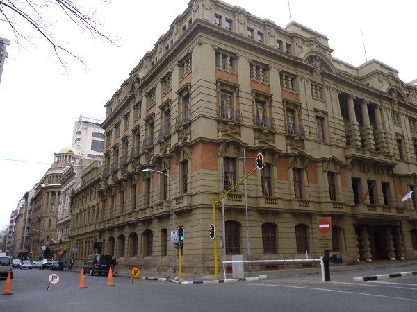The imposing Rand Club building