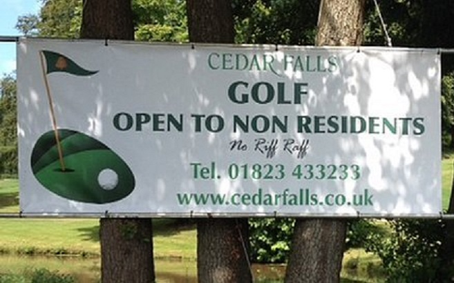 'No riff raff' rule at Cedar Falls golf club in Somerset has drawn criticism
