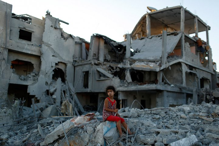 gaza rubble