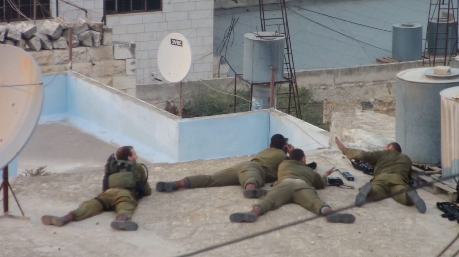 Amatuer Video shows Israeli Soldiers Celebrate Shooting Palestinian Teen