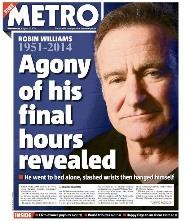 robin williams metro
