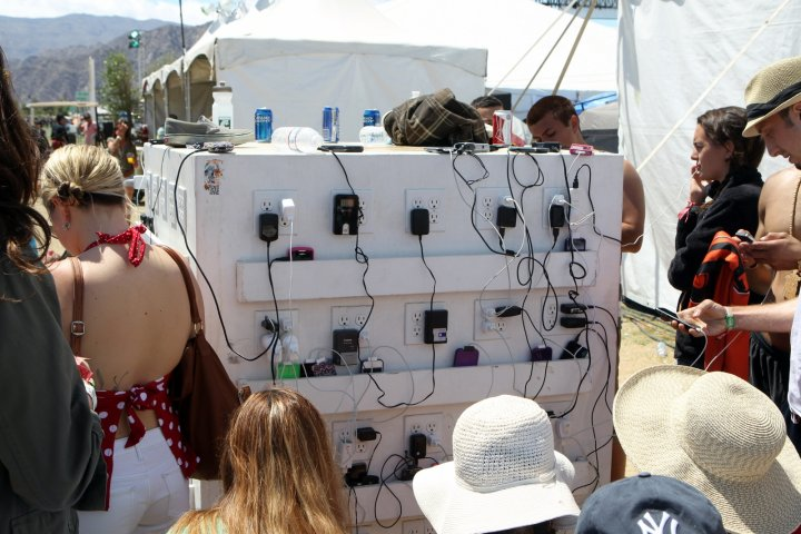 Mobile Phone Charging Station, Coachella Valley Music & Arts Festival 2012