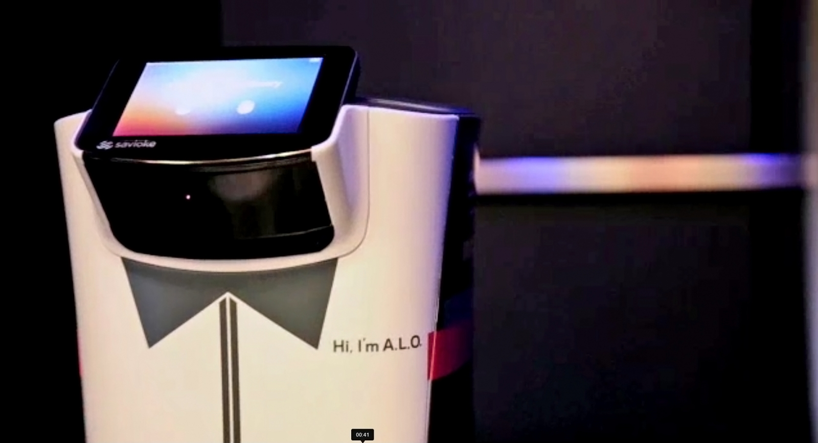 ALO, a new Botlr robot designed by Savioke for Aloft Hotels in Cupertino, California