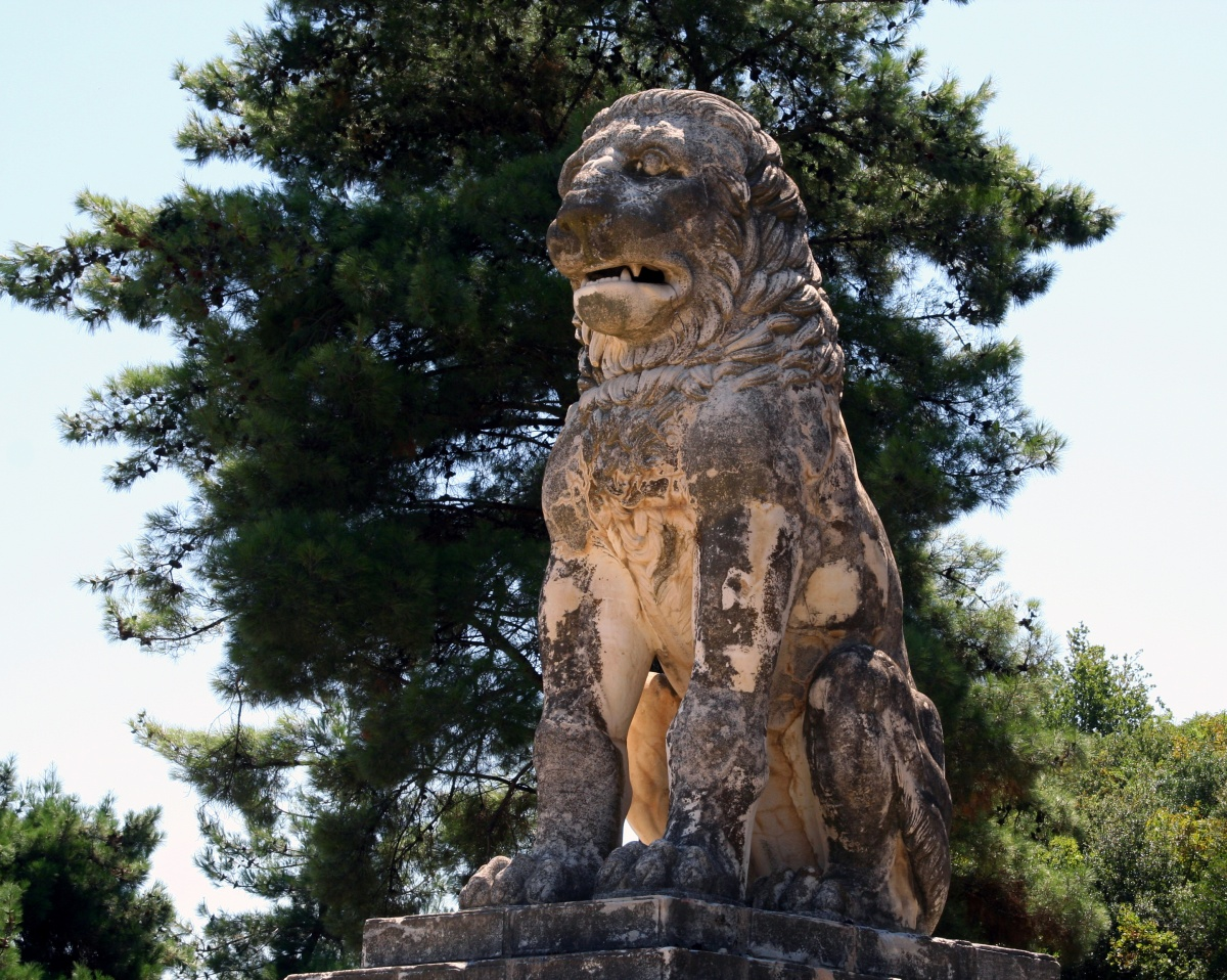 The Lion of Amphipolis once stood at the top of the burial mound found on Kasta Hill