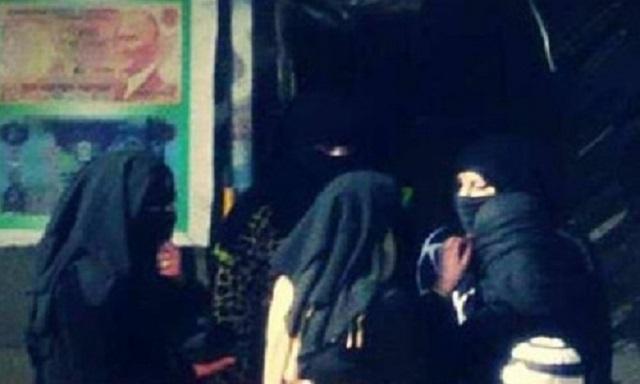 Alleged members of the Al-Khansa battalion in Al-Raqqa, north central Syria(ArabSpring)