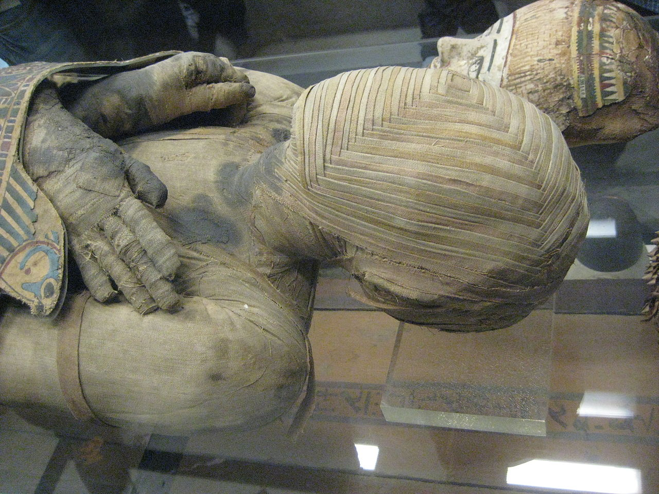 An Egyptian mummy at the Louvre in Paris