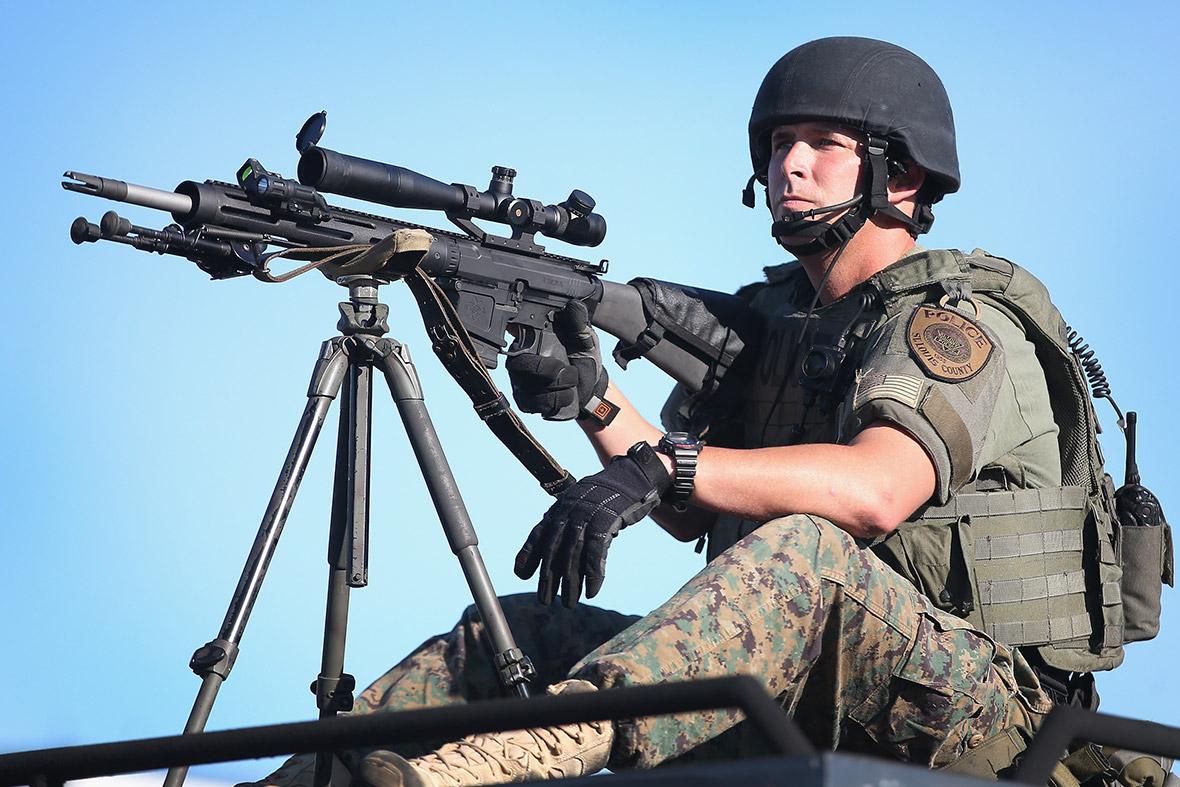 ferguson armed police