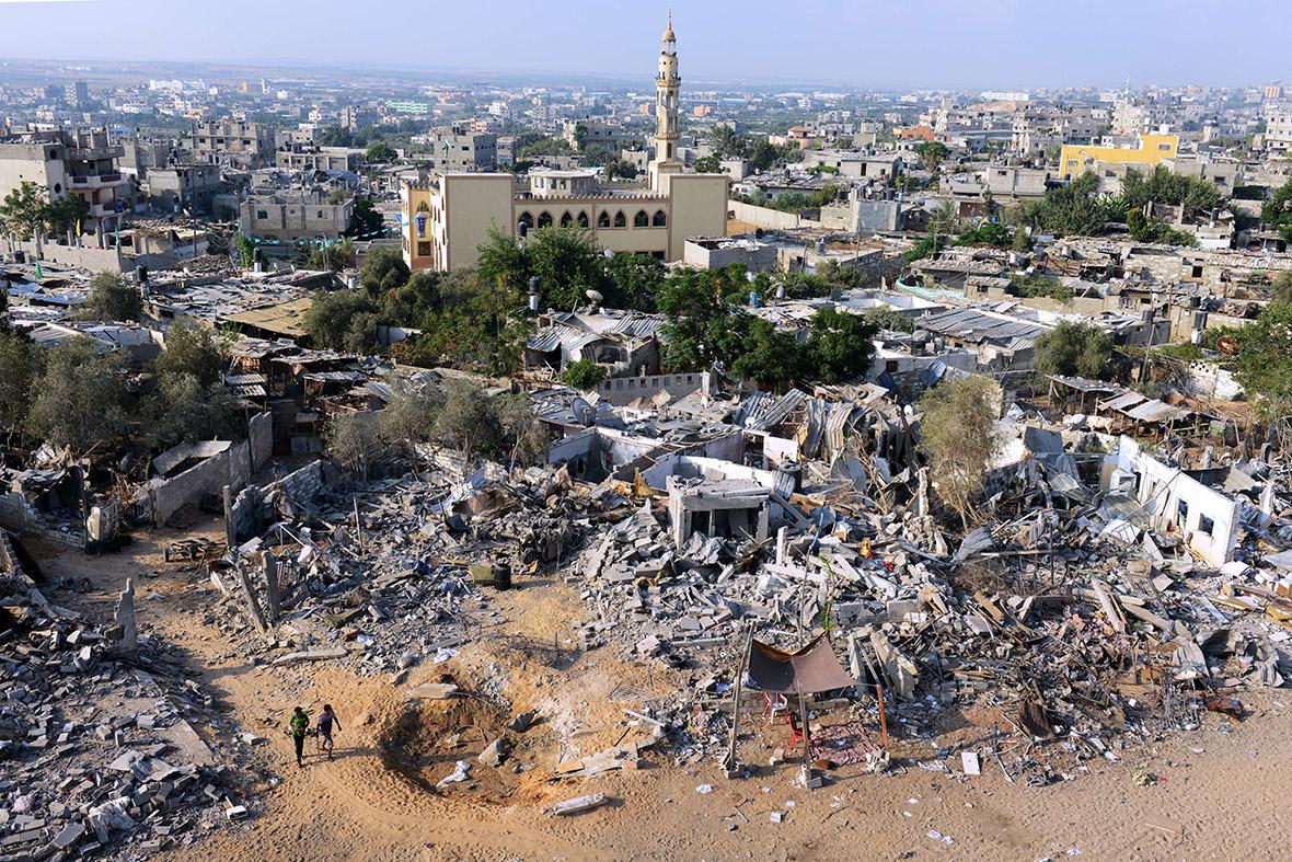 gaza rubble