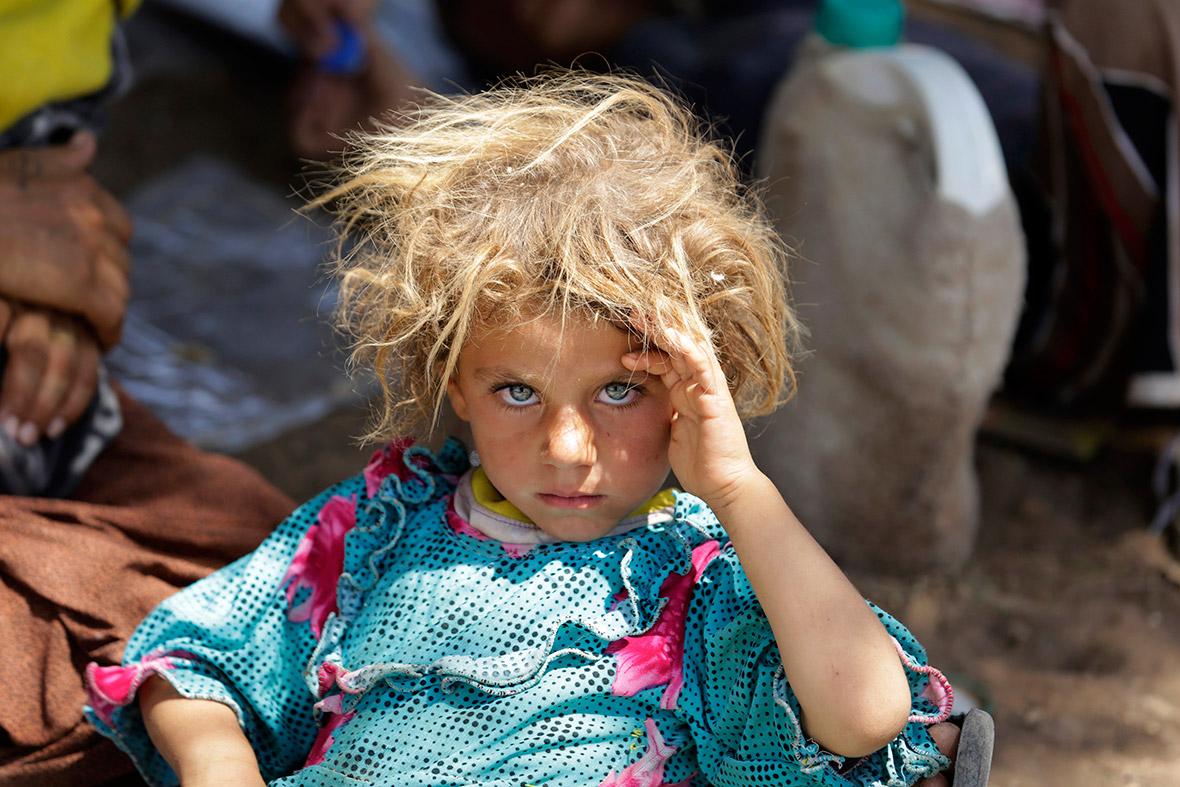 yazidi blonde blue eyes
