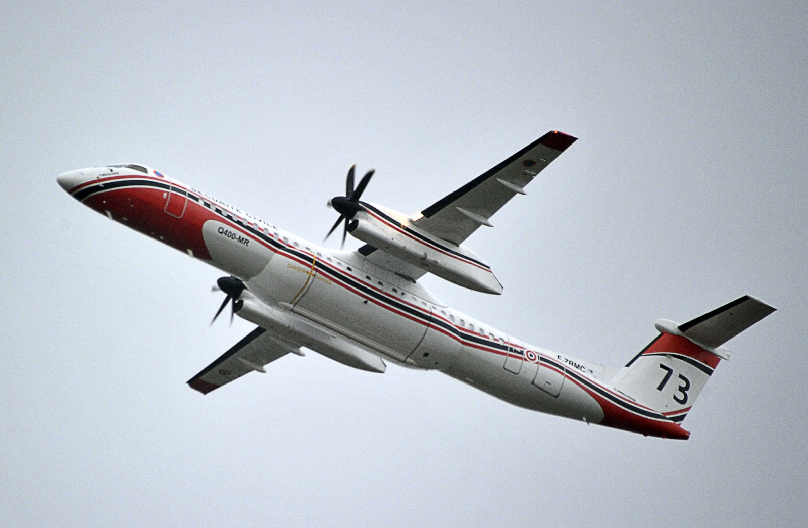 A Dash 8 plane, different from that which was landed at Belfast City Airport by a one-armed pilot