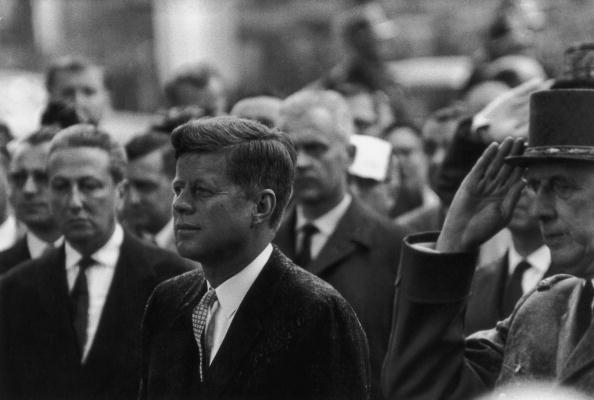JFK in Paris in 1963. A former Madame claims that he was among the clients of an elite brothel she ran. (Getty)