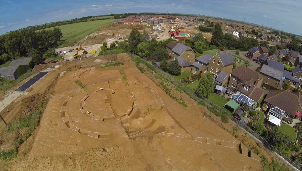 Neolithic henge monument found on the Iwade Meadows in Sittingbourne, Kent