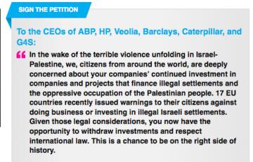 Avaaz campaign