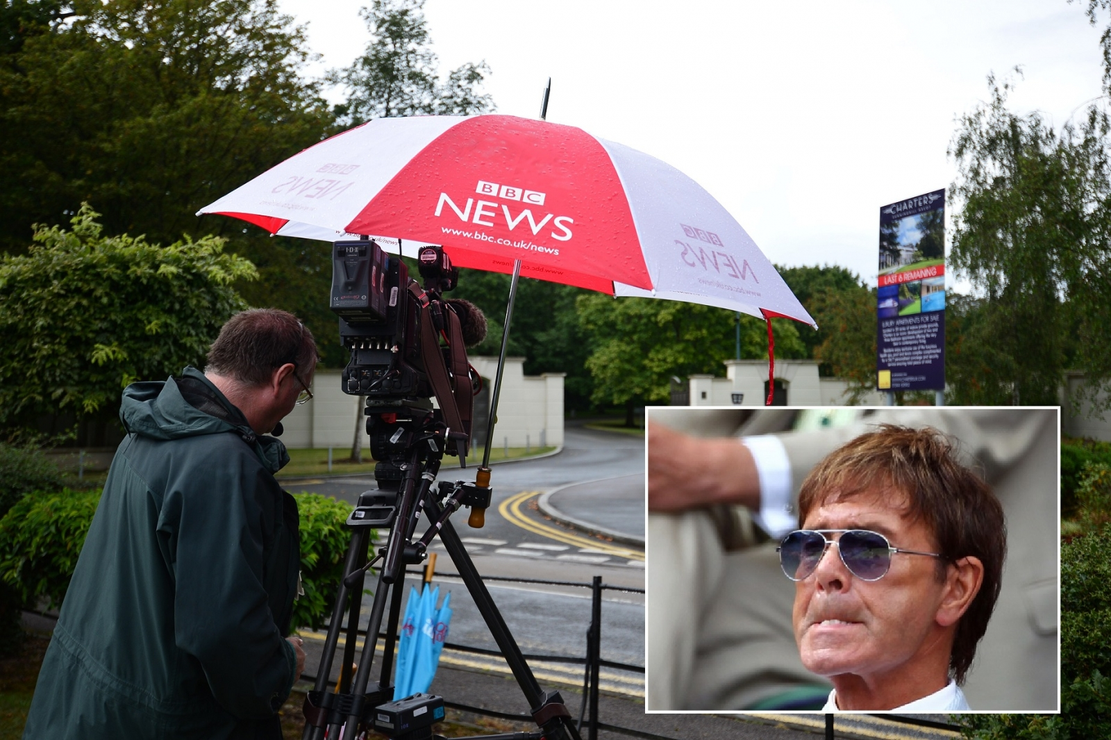 Sir Cliff Richard not happy TV cameras were waiting at his home for sex abuse probe police