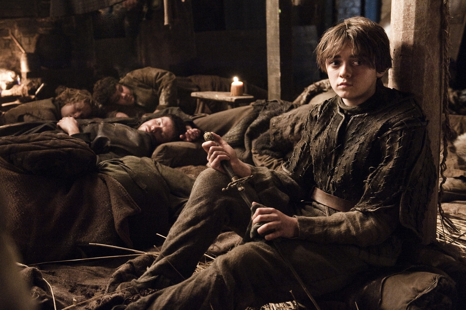 Arya Stark, as played by Maisie Williams in Game of Thrones
