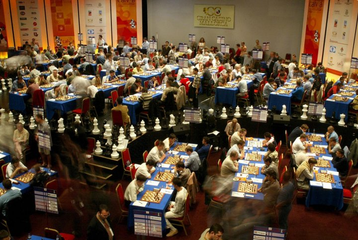 Players compete at the Chess Olympiad. (Jaime Reina AFP/Getty)