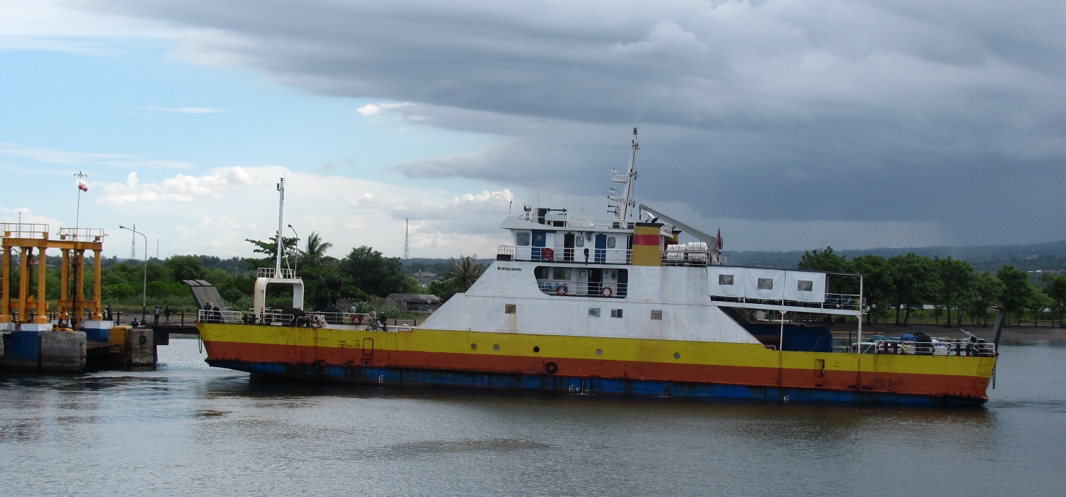 A boat in Lombok's Labuhan harbour